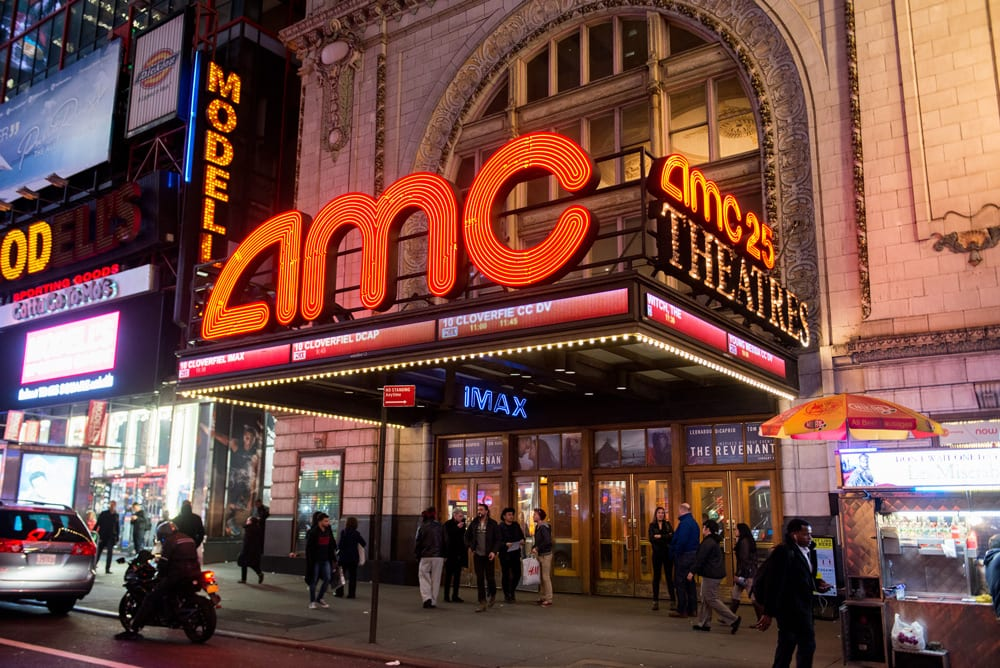 amc movie theater times square