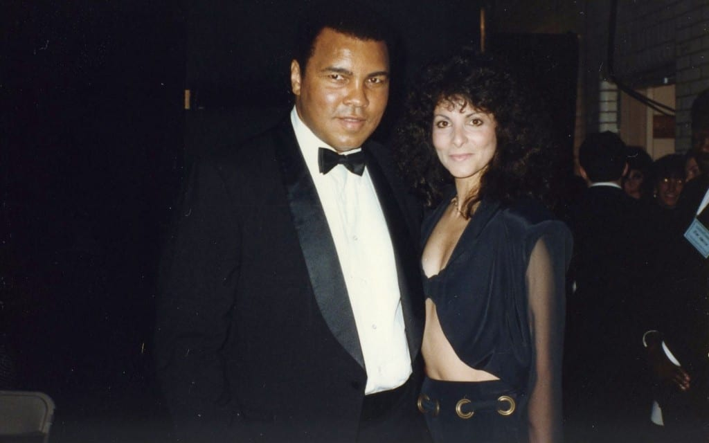 Roe Noviello (right) pictured with Muhammad Ali in 19...