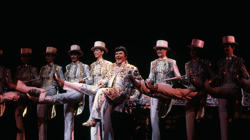 Liberace and the Rockettes in 1985