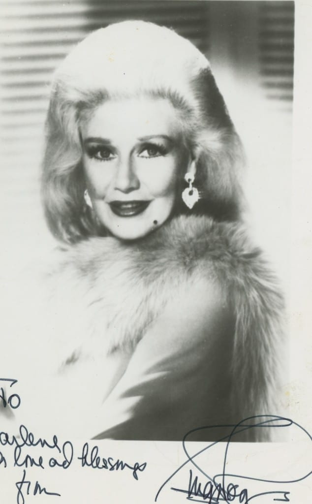 Frank's autographed photo of Ginger Rogers.