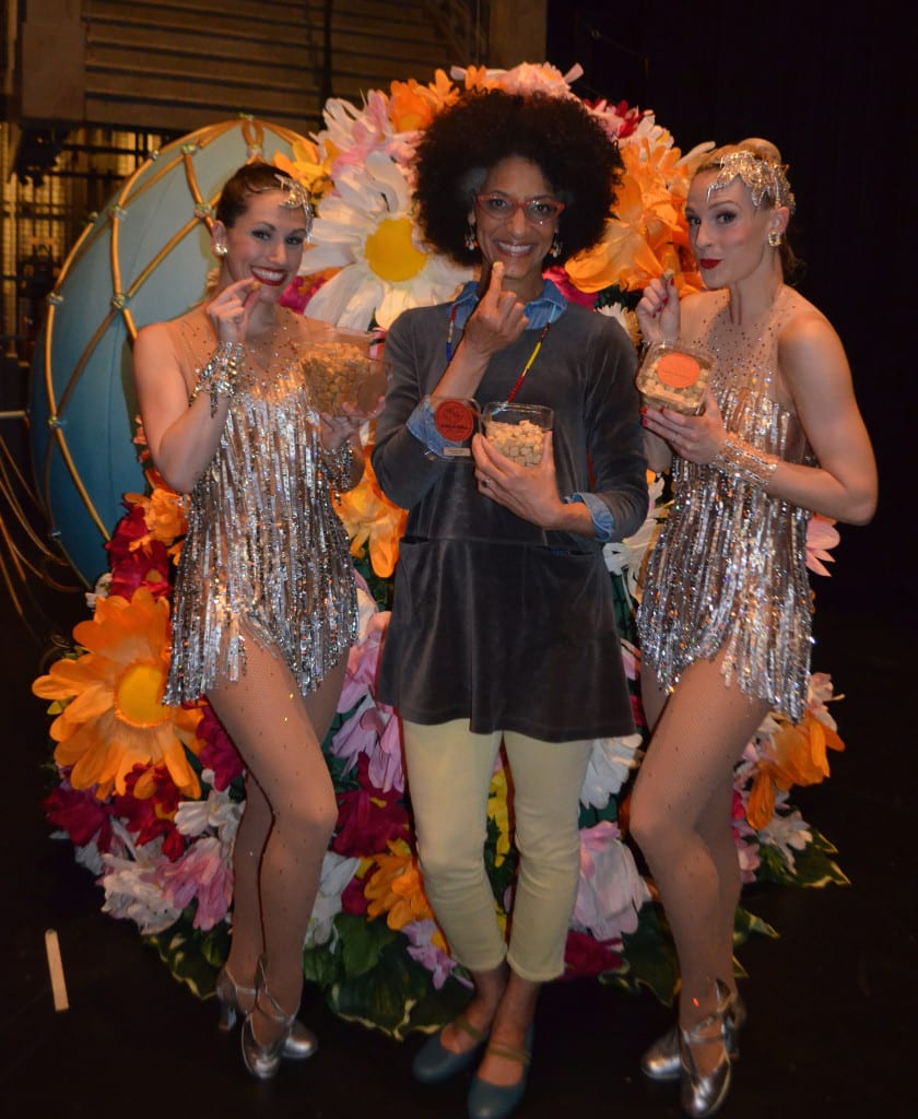 Rockettes Alissa and Lindsay met with Carla Hall backstage after the New York Spring Spectacular (she even brought them cookies!)