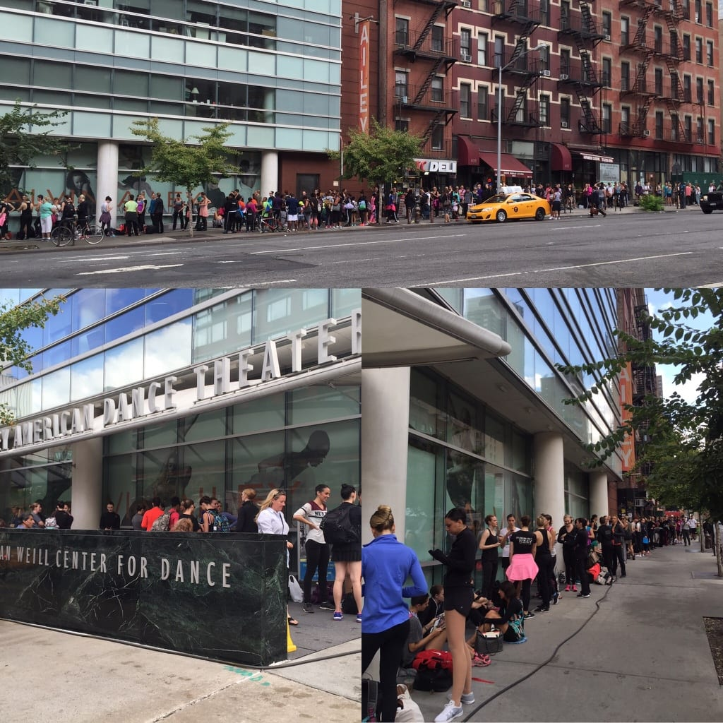 Over 400 dancers lined up outside Alvin Ailey Dance Theater for auditions