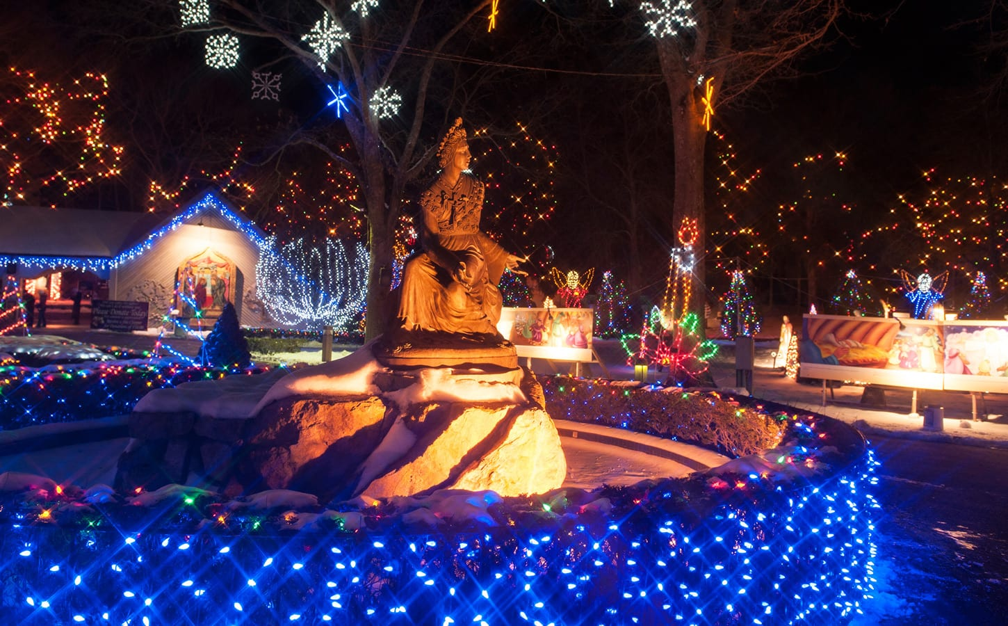 the national shrine of our lady of la salette located in attleboro ma has put on a festival of lights that has become a hallowed holiday tradition - When Did Christmas Become A National Holiday