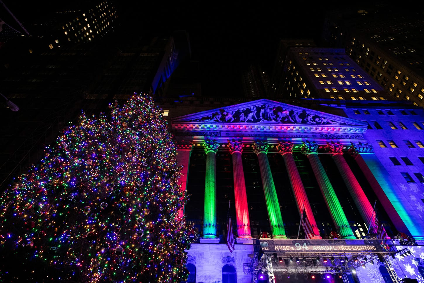 new york stock exchange holiday tree