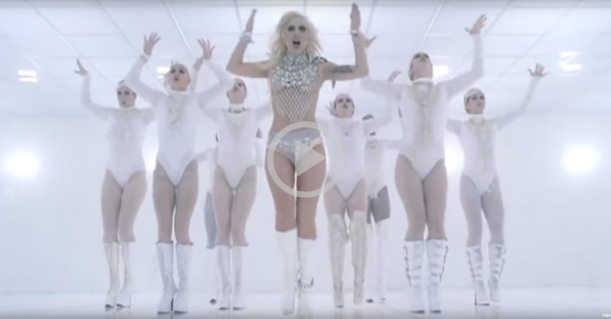 Lady gaga s 9 best dance music videos the rockettes for 1234 get on the dance floor actress name