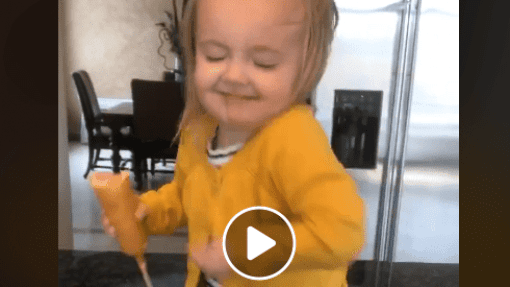 Dancer of the Week: Toddler Goes Viral After Dancing To Beyoncé With a Corn Dog in Hand