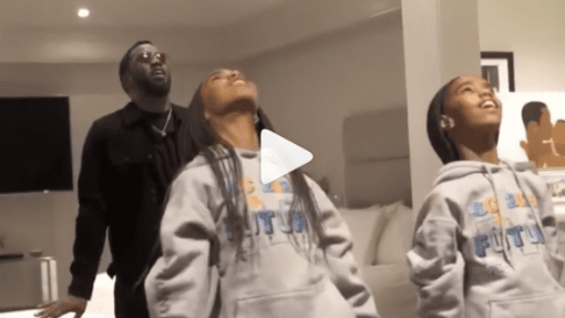 Dancer of the Week: Rapper Diddy Joins In On Twin Daughters' 'Dreamgirls' Rehearsals