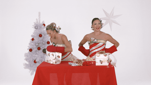 The Rockettes Test Their Wrapping Skills in the Ribbons and Mittens Challenge